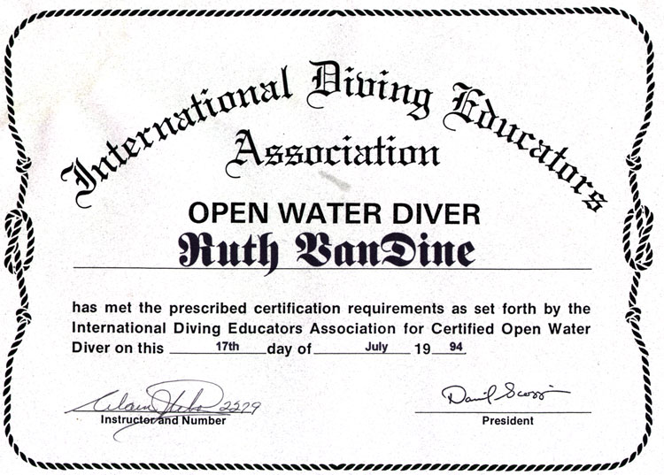 Open Water Certificate